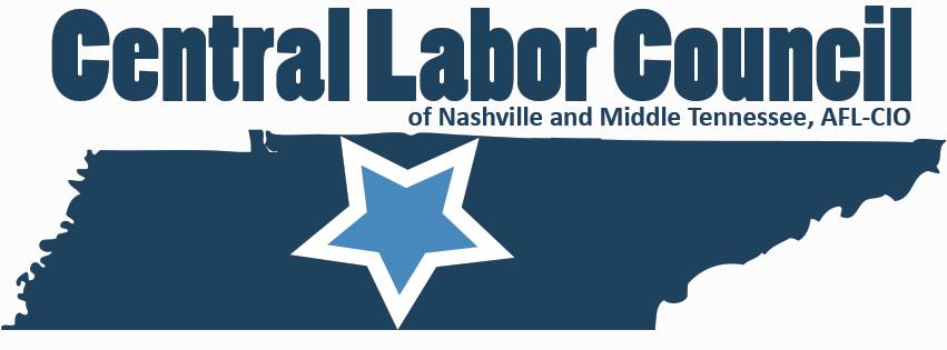 Central Labor Council of Nashville Middle Tennessee Endorses
